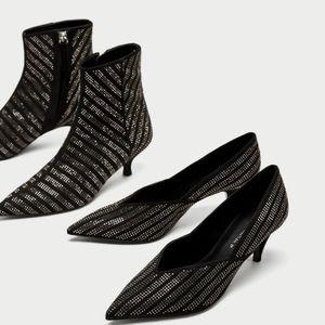 BUNDLE DEAL! 2 pair of shiny Zara heels SZ 9 NWT
